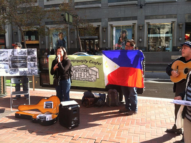 Filipino community fundraising in San Francisco, CA | source: http://nafconusa.org/