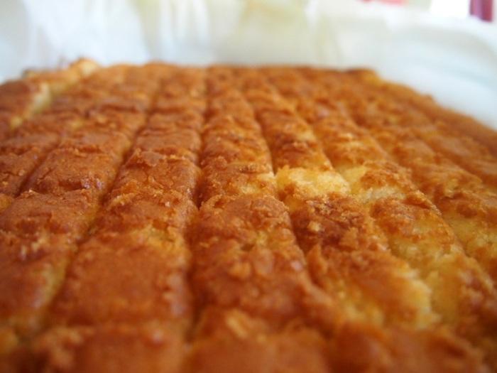 Cassava cake is a Filipino desert made using grated cassava, coconut milk and cheese.